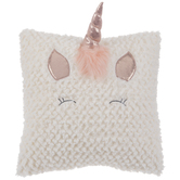 White & Pink Unicorn Pillow