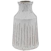 Cream Textured Vase - Large