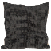 Gray Knit Pillow Cover
