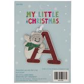 Snowman Letter Ornament - A