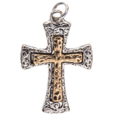 Hammered Cross Charm