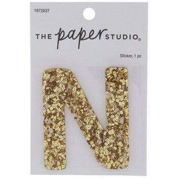 Gold Glitter Letter Sticker