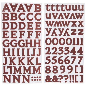 Burgundy Monster Alphabet Stickers