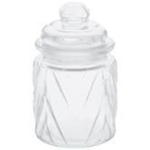 Chevron Glass Jar