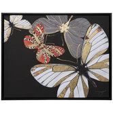 Metallic Gold Butterflies Canvas Wall Decor