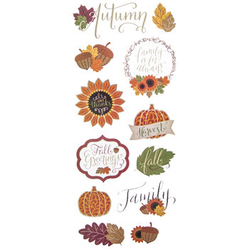 Autumn Gold Foiled Stickers