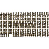 Black & Gold Varsity Alphabet Stickers