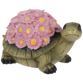 Pink Glitter Floral Shell Turtle