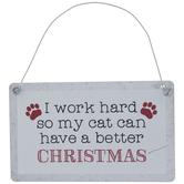 Cat Better Christmas Ornament