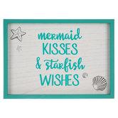 Mermaid Kisses Wood Wall Decor