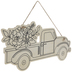 Floral Truck Wood Shape