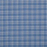 Indigo Plaid Denim Fabric