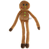 Gingerbread Squeaky Dog Toy