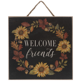 Welcome Friends Wood Wall Decor