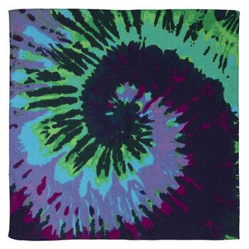 Blue, Green & Purple Tie-Dye Bandana