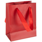 Red Gift Bags With Glossy Cuff