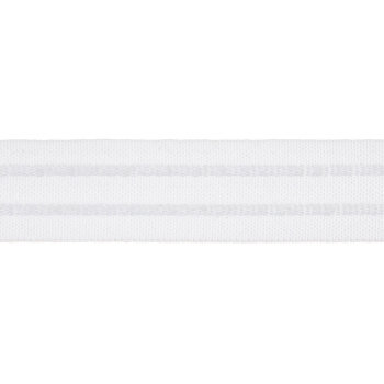White Two Cord Shirring Tape