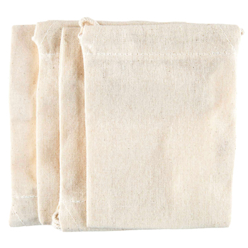 Cream Cotton Drawstring Bags