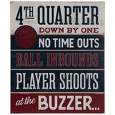 At The Buzzer Basketball Wood Decor