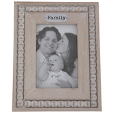 "Family Beaded Wood Frame - 4"" x 6"""