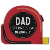 Dad Tape Measure Metal Sign