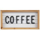 Coffee Wood Wall Decor