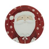 Santa & Snowflake Paper Plates - Small