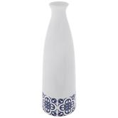Blue & White Moroccan Tile Vase