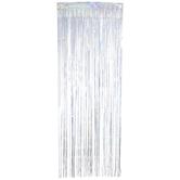 Silver Holographic Foil Fringe Door Curtain