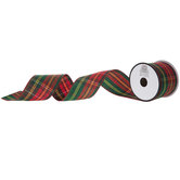 Red & Green Plaid Ribbon