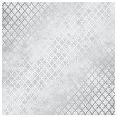 """Gray & Silver Foiled Lattice Scrapbook Paper - 12"""" x 12"""""""