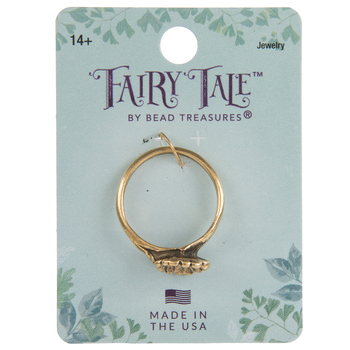 14K Gold Plated Fairy Flower Ring - Size 8