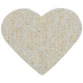 Burlap & Lace Hearts