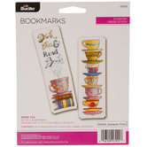 Drink Tea Bookmarks Counted Cross Stitch Kit