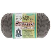 Gray Bonnie Braided Macrame Craft Cord - 2mm