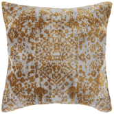 Yellow & Gray Tapestry Pillow Cover
