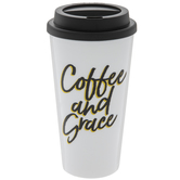 Coffee & Grace Cup With Lid