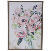 Pink & Purple Floral Wood Wall Decor