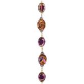 Purple Glass & Jasper Bead Strand