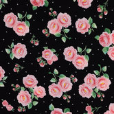 Rose & Cross Knit Fabric