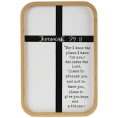 Jeremiah 29:11 Bamboo Wood Wall Decor