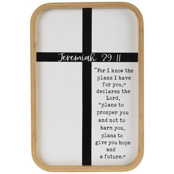 Jeremiah 29:11 Bamboo Wood Wall Decor