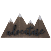Adventure Mountains Wood Wall Decor