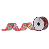 Red Plaid Ribbon - 1 1/2""