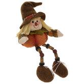Brown Hat Scarecrow Shelf Sitter