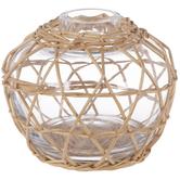 Glass Vase In Basket