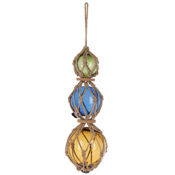 Jute Wrapped Glass Globe Hanging Decor