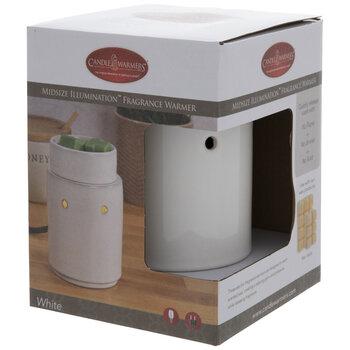 White Simple Cutout Fragrance Warmer