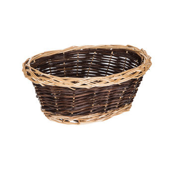 Oval Two Tone Willow Basket