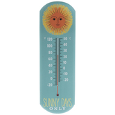 Sunny Days Only Metal Thermometer